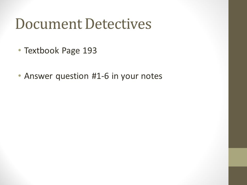 Document Detectives Textbook Page 193