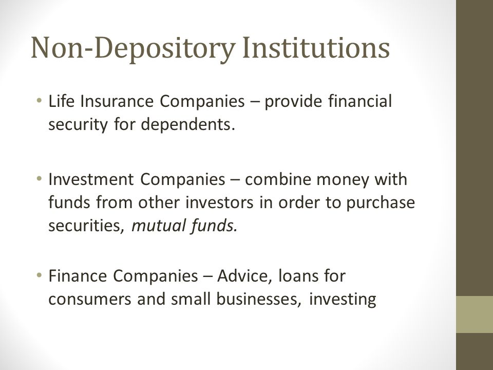 Non-Depository Institutions