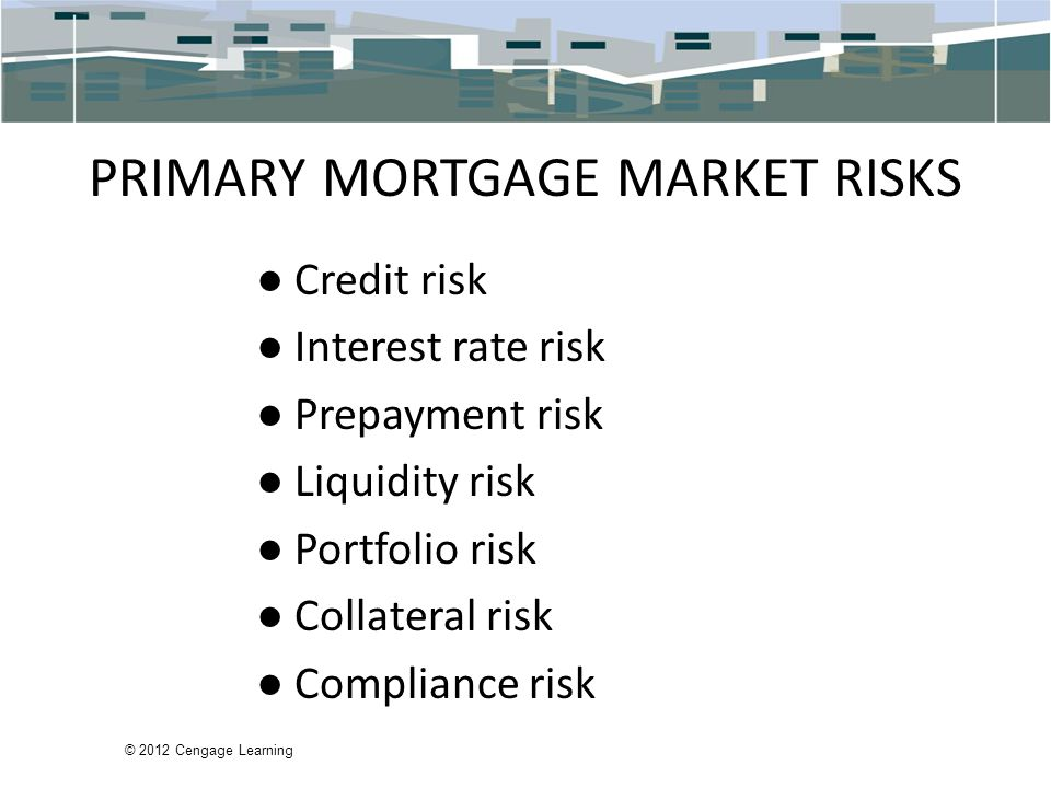PRIMARY MORTGAGE MARKET RISKS