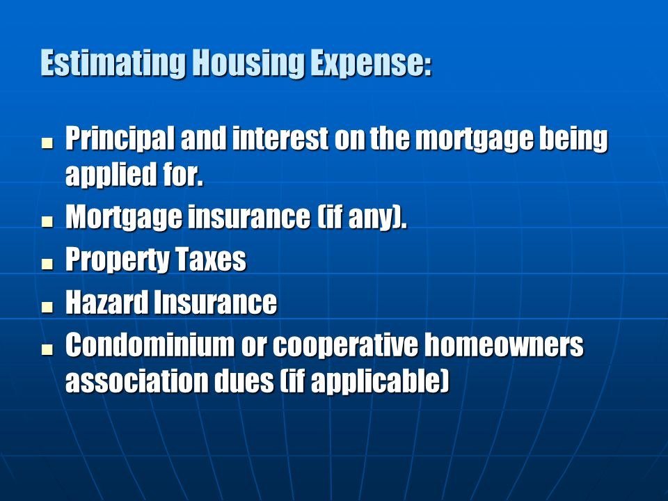 Estimating Housing Expense: