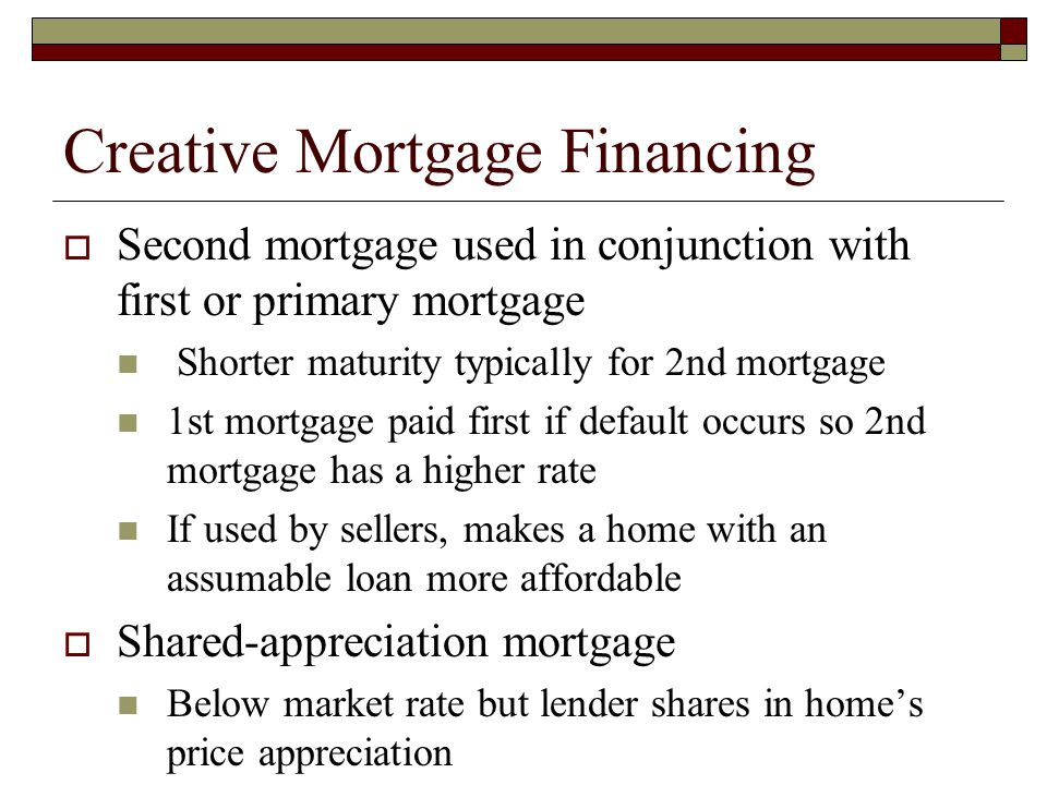 Creative Mortgage Financing