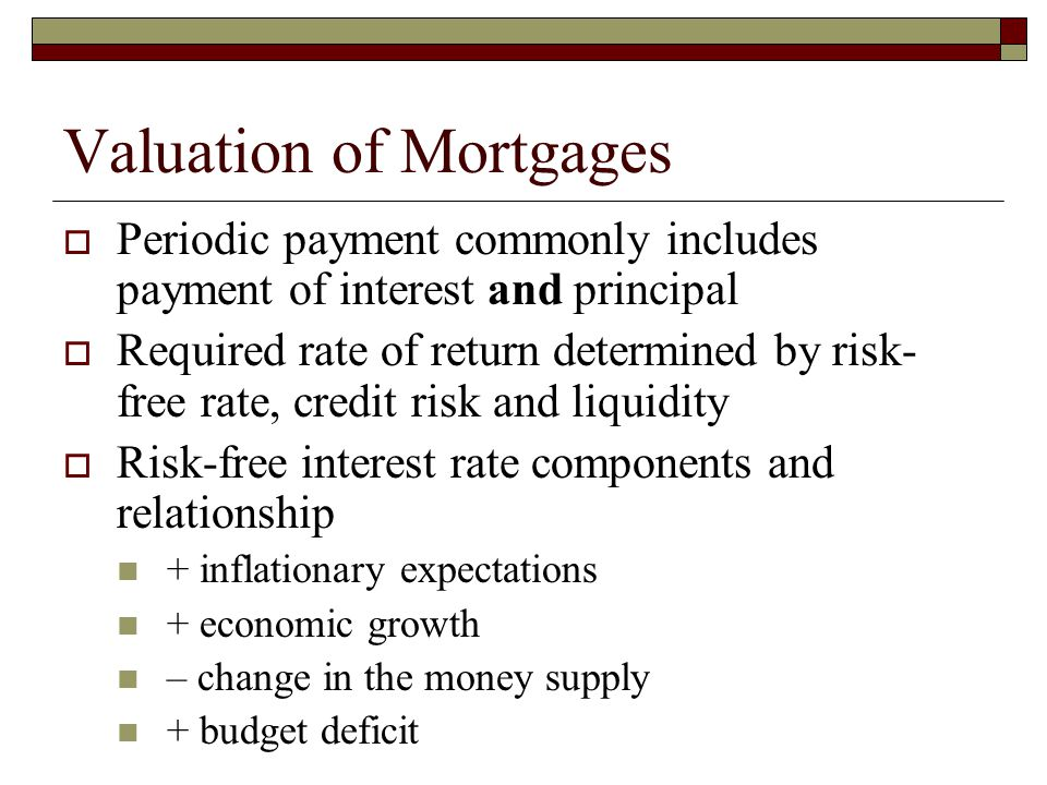 Valuation of Mortgages