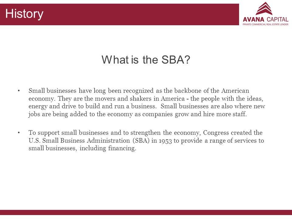 History What is the SBA
