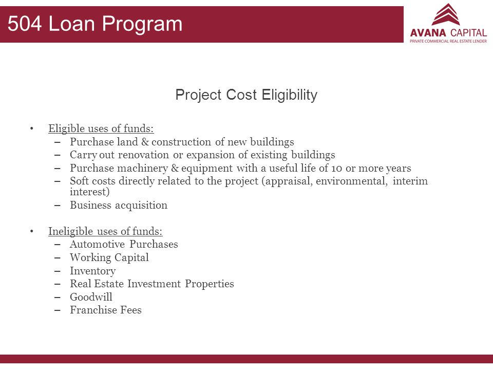 Project Cost Eligibility