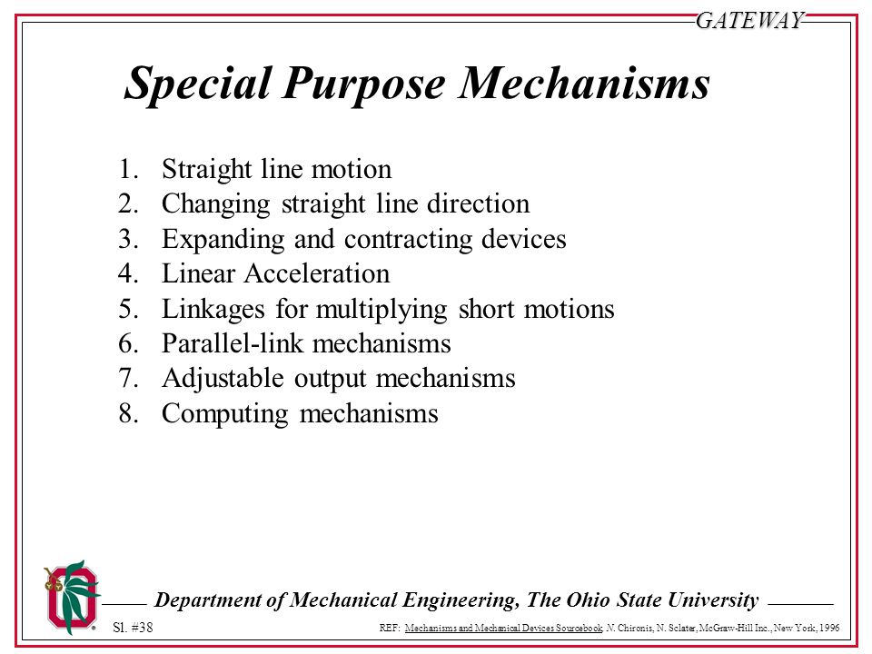 Special Purpose Mechanisms
