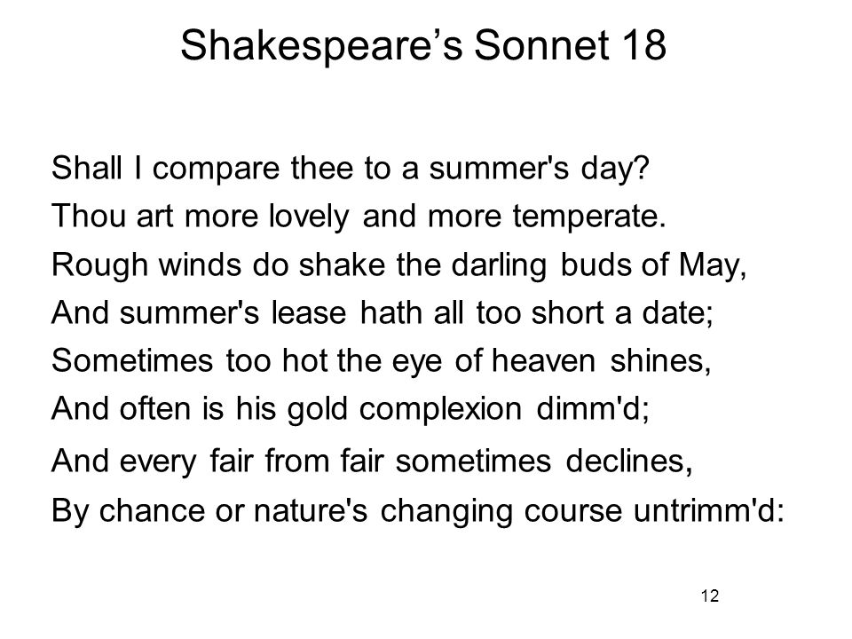 refer to your text pages ppt video online  shakespeare s sonnet 18