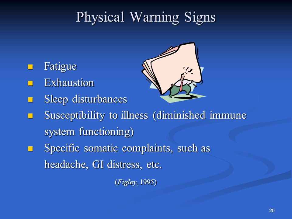 warning signs of compassion fatigue essay Warning signs of compassion fatigue compassion fatigue is considered as an occupational hazard for health care professionals the physical symptoms include not feeling good, fatigue that does not go away with sleep, lack of motivation, apathy, nausea, allergies, digestive problems and skin problems.