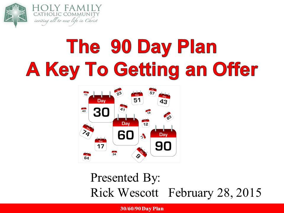 90 days plan example
