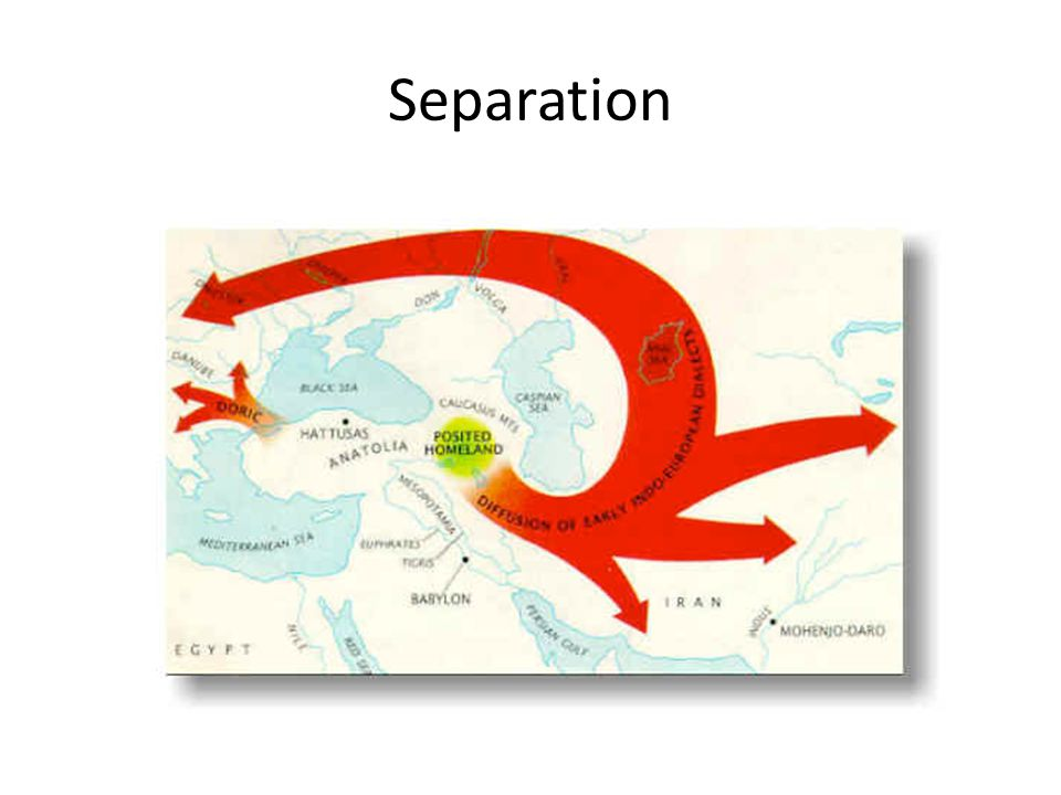 Separation FLESH OUT THE SPREAD OF INDO-EUROPEAN