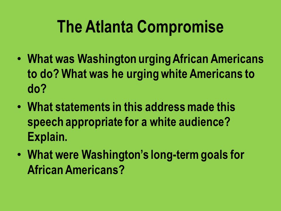 The Atlanta Compromise