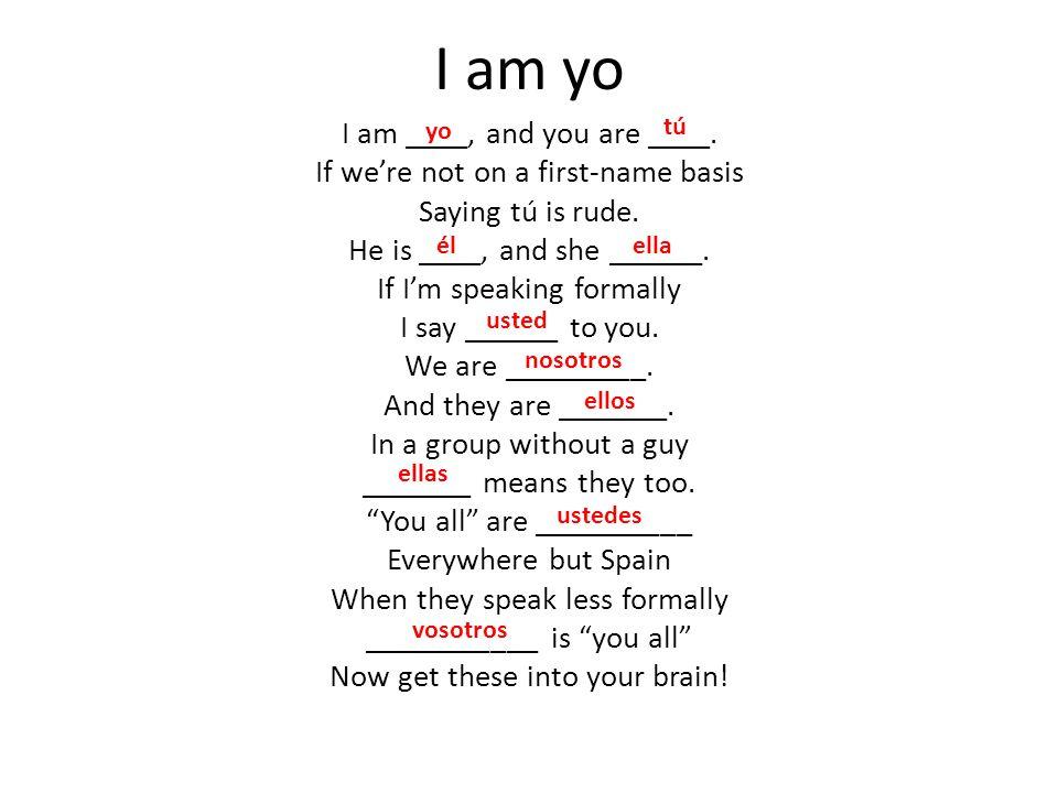 I am yo