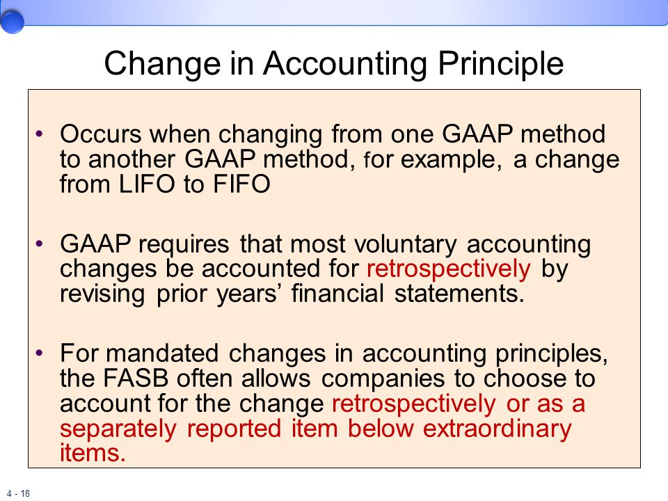 effects of changing accounting standards We examine capital structure changes to investigate the impact of sfas no   firms in response to statement of financial accounting standard (sfas) no.