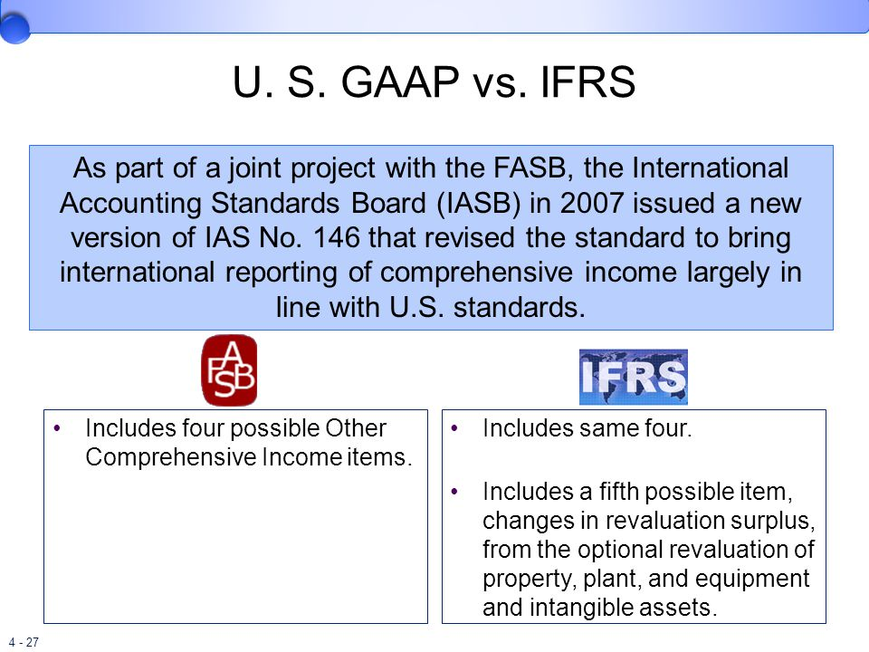 gaap in the u s and the The basic doctrine was set forth by the accounting principles board of the  american institute of certified public accountants, which was superseded in  1973 by.
