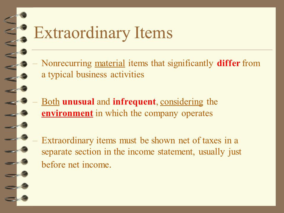 extraordinary items Sudden prohibition for ca valuers financial exposure of secured creditors and  the relevance of vertical comparison in resolution additional items to be.