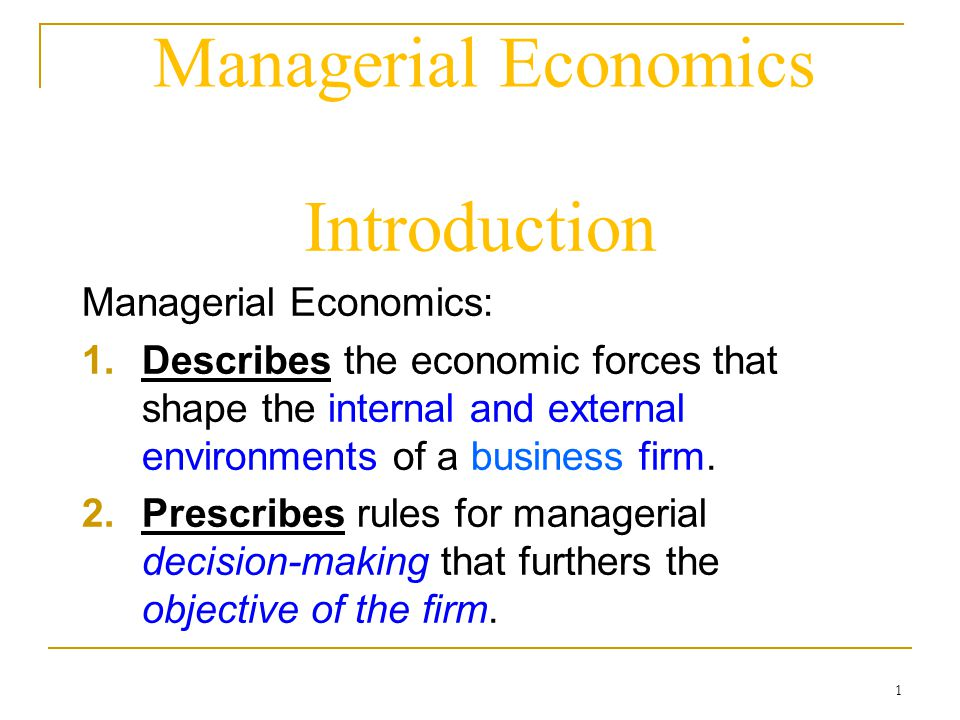 economics for managerial decision making market Economics and managerial decision making course description key concepts in economics - opportunity cost, the cost and benefits, market circular flow of economy.