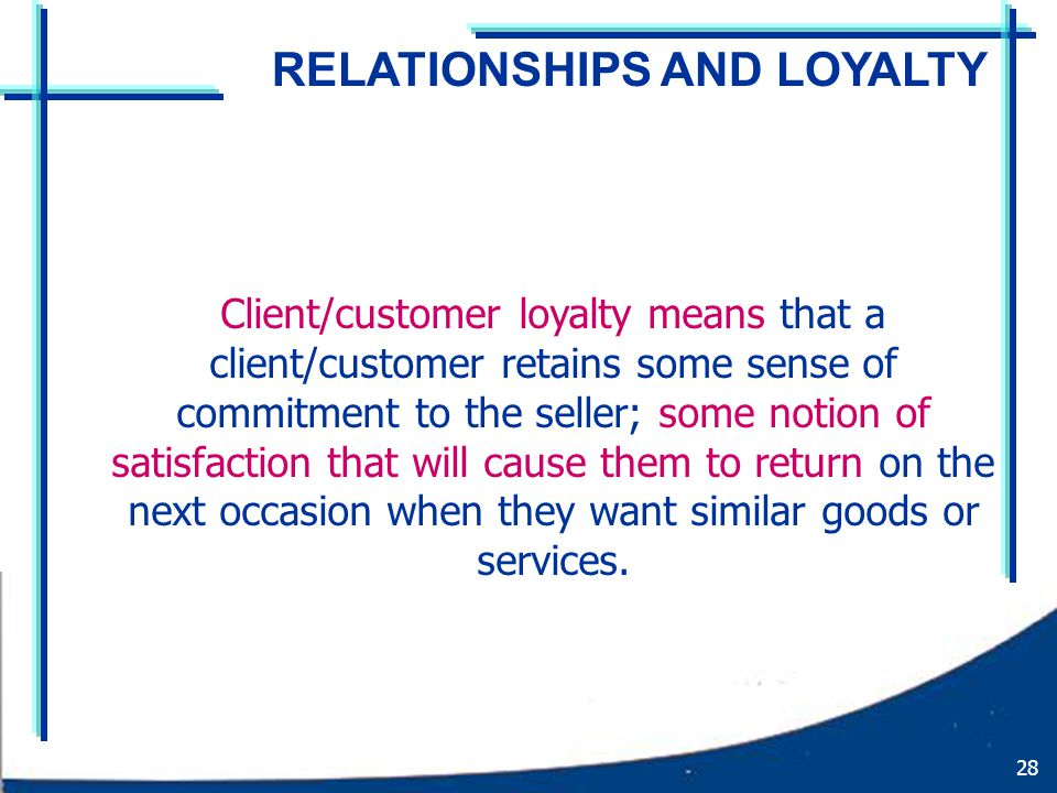 loyalty and commitment definition relationship