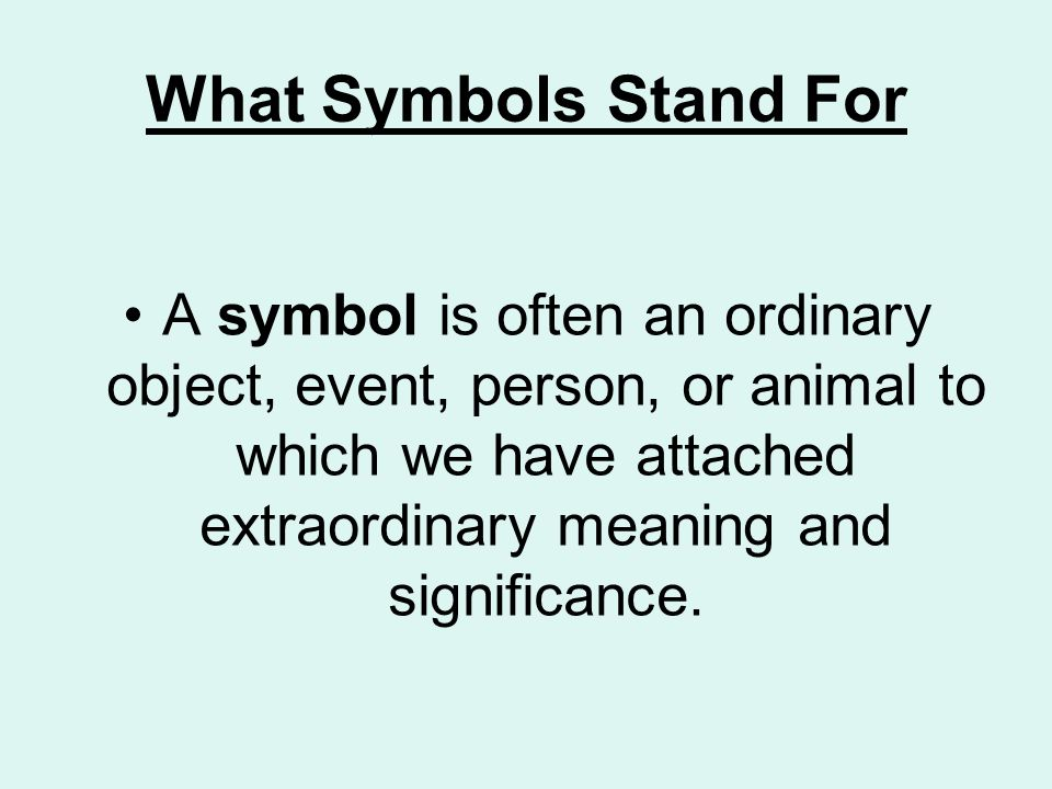 What Is A Symbol In Literature Short Stories For Teaching Symbolism