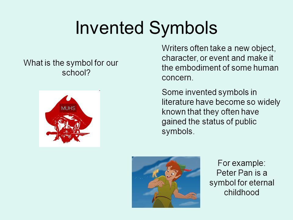 symbolism in literature ppt  invented symbols writers often take a new object character or event and make it