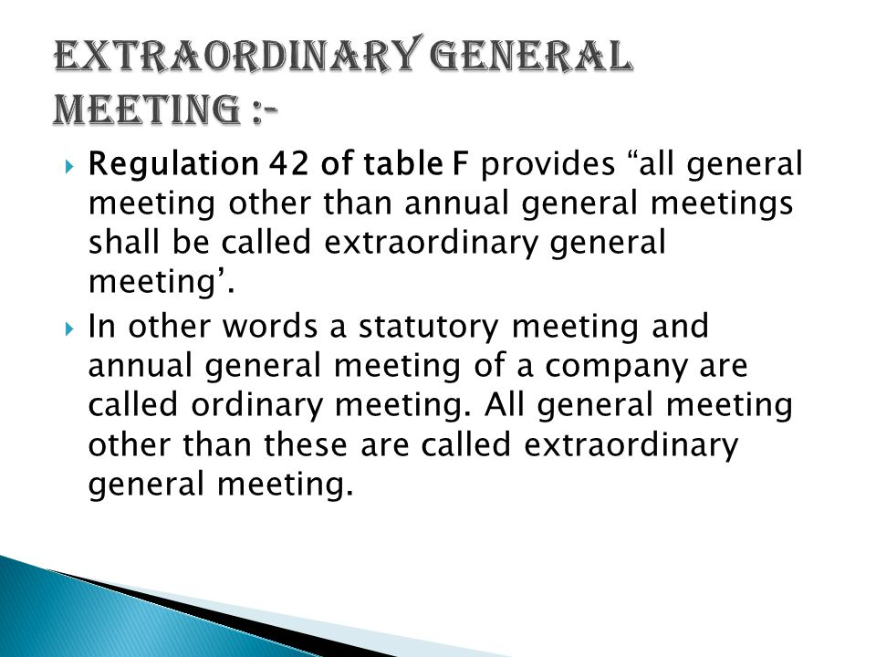 EXTRAORDINARY GENeRAL MEETINGS - ppt video online download