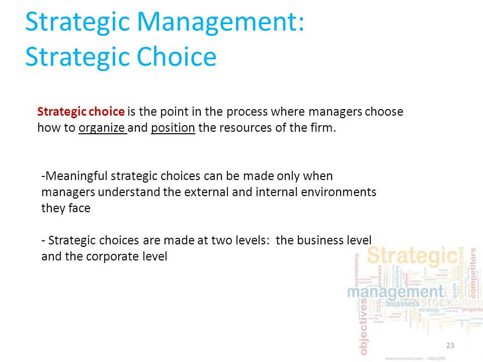 strategic mgmt 499 strategic choices Read this essay on assignment 1 bus 499 assignment 1 bus 499strategic management and strategic competitiveness melinda upchurch dr debra sherrill your choice-that does not have a history of mergers and acquisitions and operates solely within.