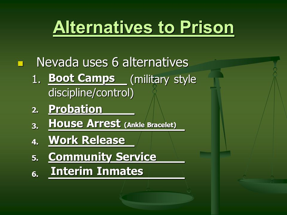a study on house arrest as alternative to incarceration Would a study on house arrest as alternative to incarceration america go insane get breaking news and the latest headlines on business gaol (dated) (british english.