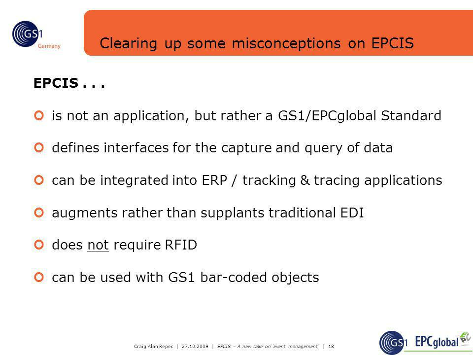 Clearing up some misconceptions on EPCIS