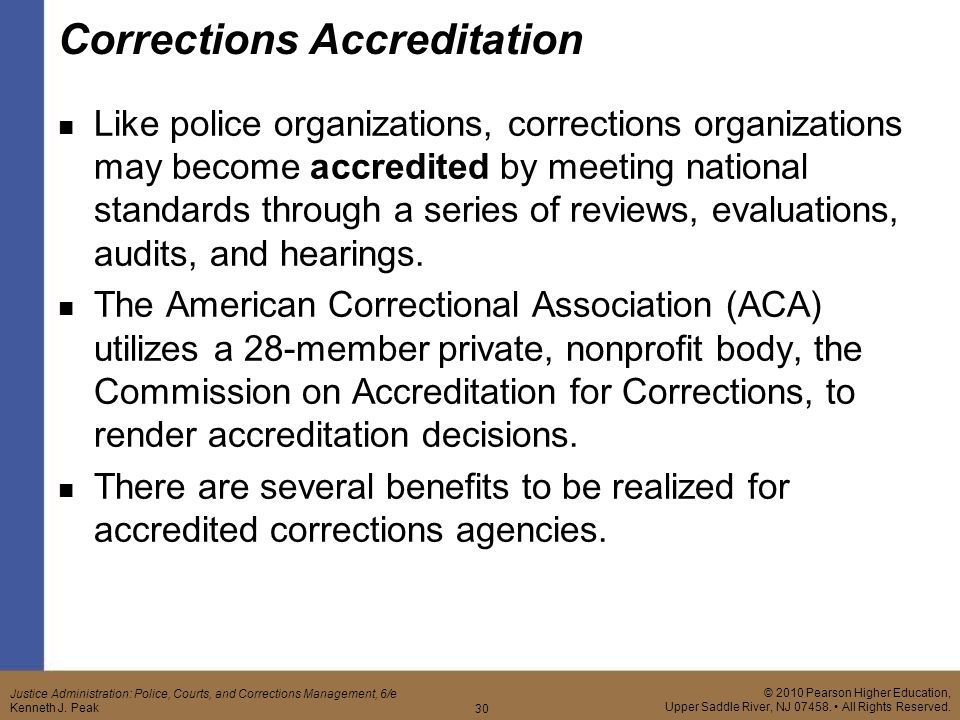 corrections accreditation Publications stay informed the commission on accreditation for corrections (cac) has six program components, including both juvenile and adult areas.