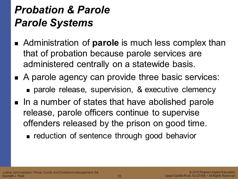 parole release should parole release abolished To the board of pardons and parole in response to the offender parole release to penalty should be abolished in every state of the abolish parole.