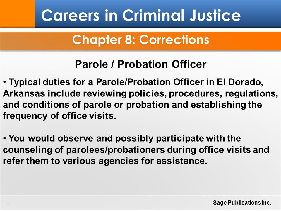 Careers In Criminal Justice  Ppt Download