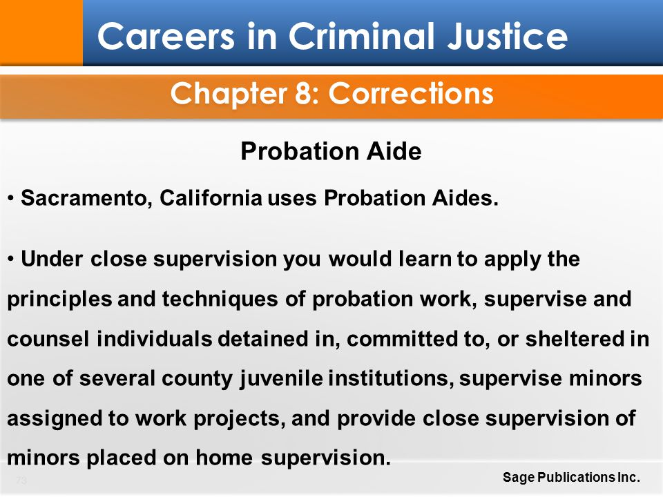 Criminal justice trends corrections