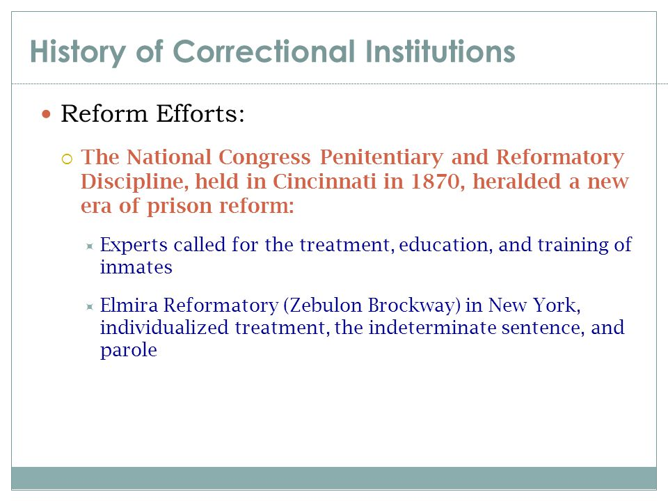 history of corrections This essay has been submitted by a law student this is not an example of the work written by our professional essay writers history of corrections system.