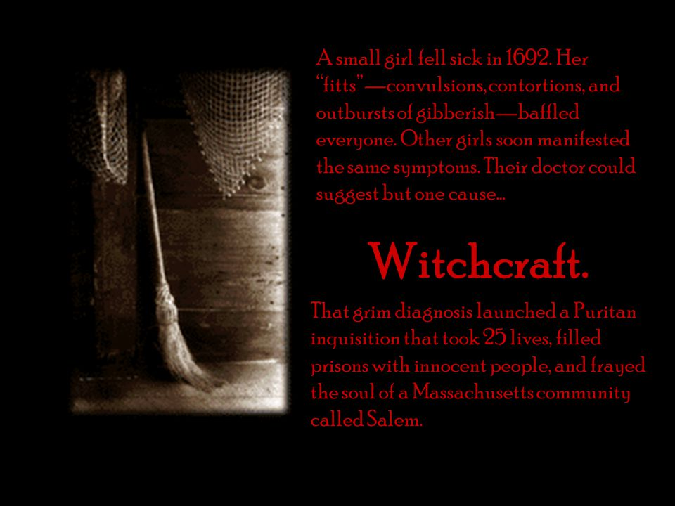 a historical overview of salem witch trials Try a teacher's guide that provides a synopsis of the crucible, the classic play by arthur miller about the salem witch trials also included in this literature guide.