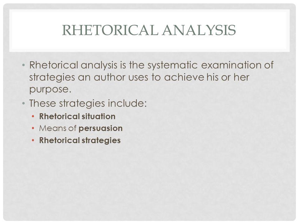 define rhetorical strategies
