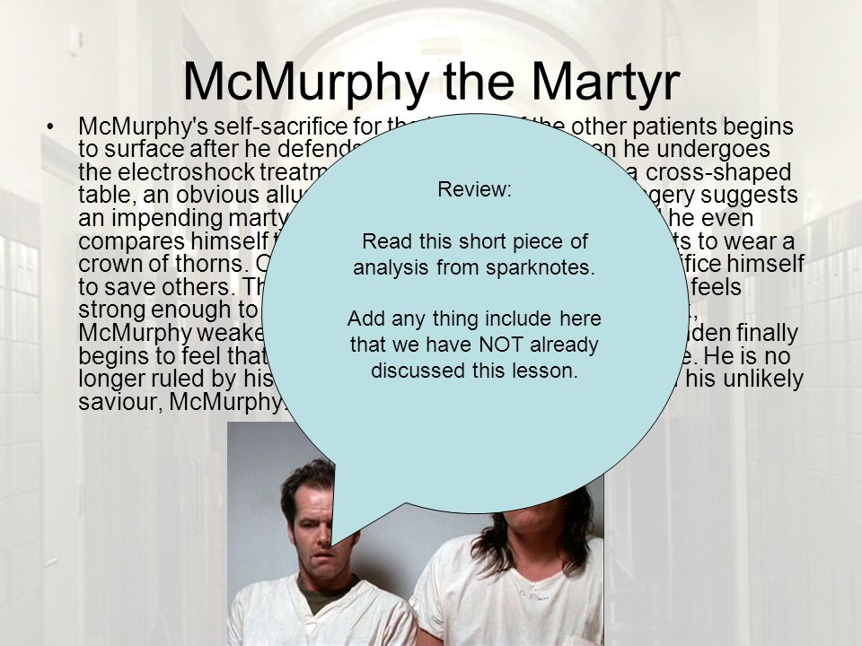 one flew over the cuckoos nest ppt this short piece of analysis from sparknotes