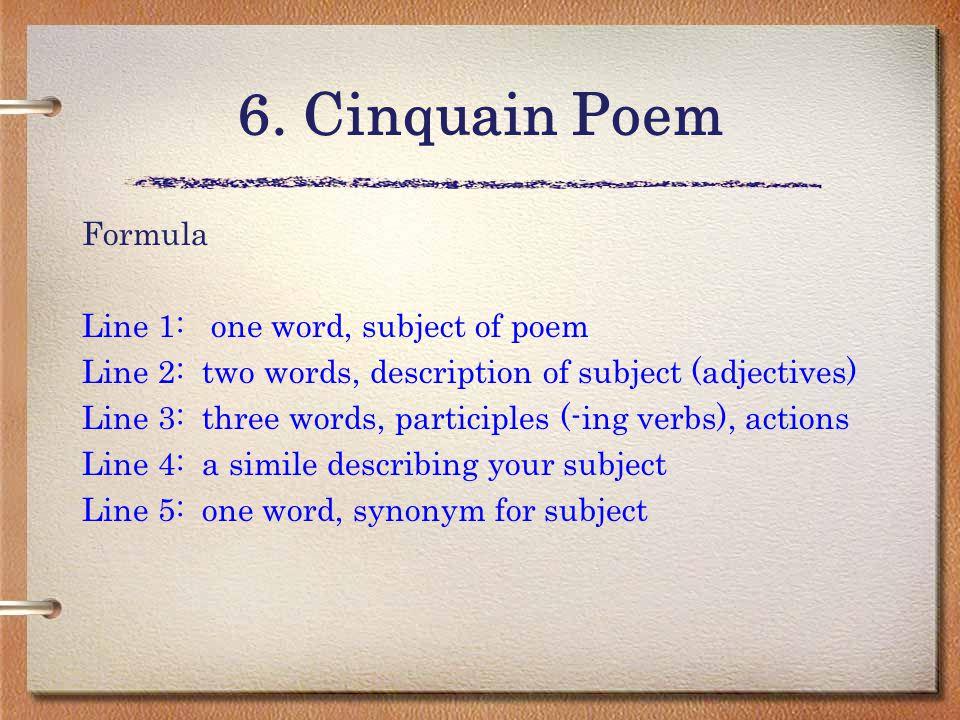 how to write a cinquain video