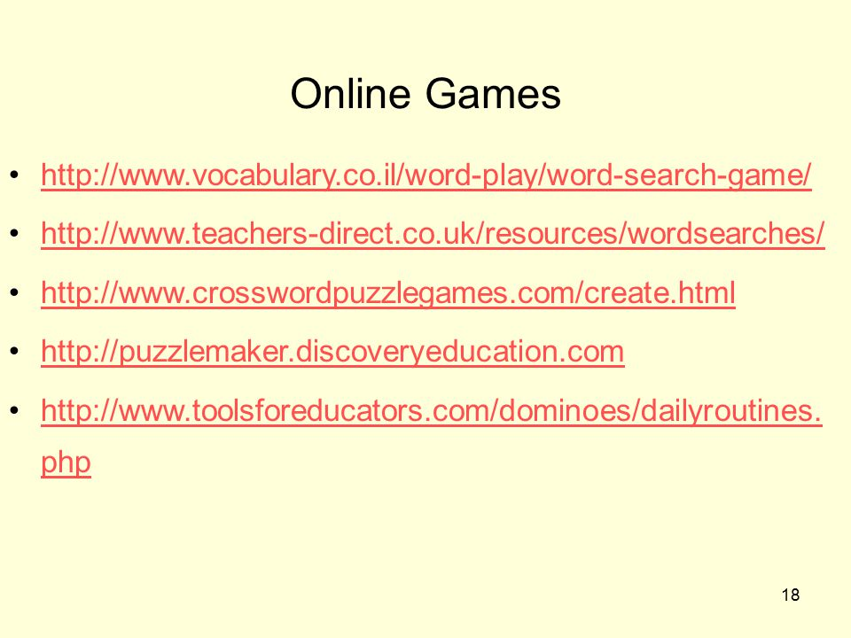 Online Games http://www.vocabulary.co.il/word-play/word-search-game/