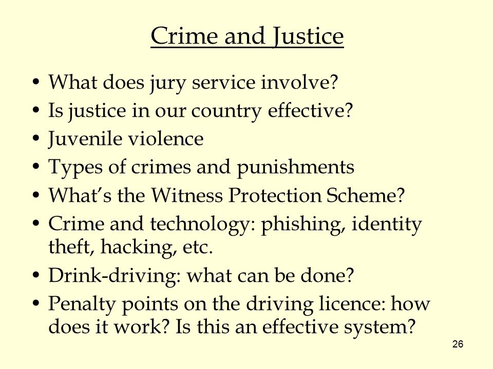 Crime and Justice What does jury service involve