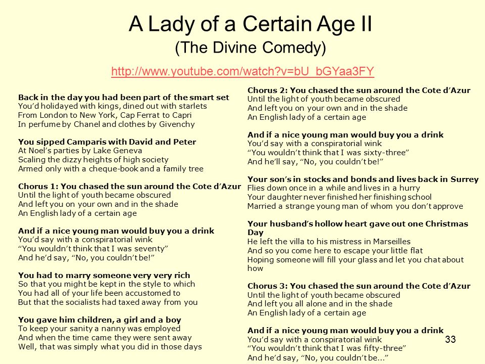 A Lady of a Certain Age II