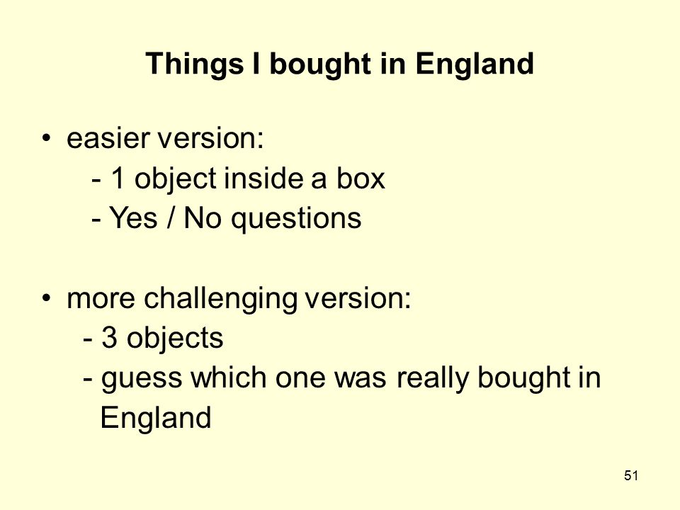 Things I bought in England
