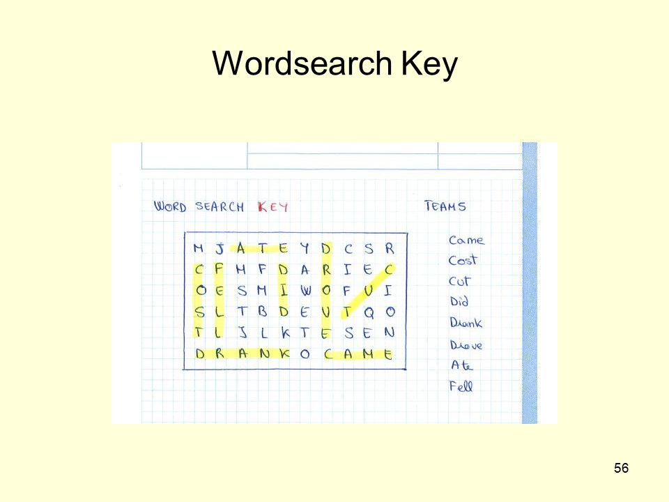 Wordsearch Key