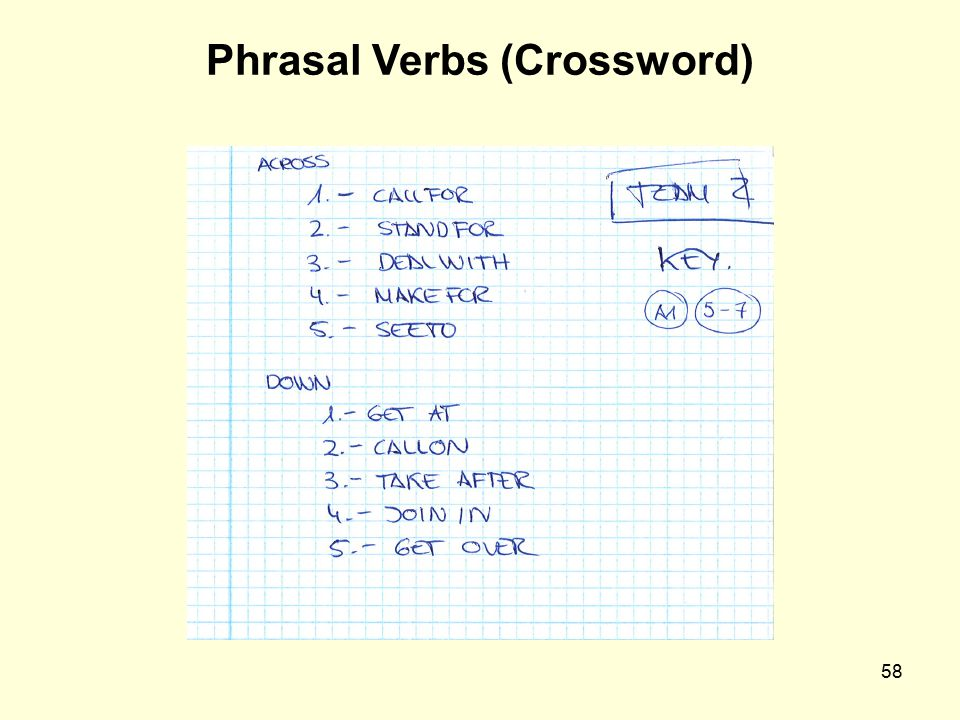 Phrasal Verbs (Crossword)