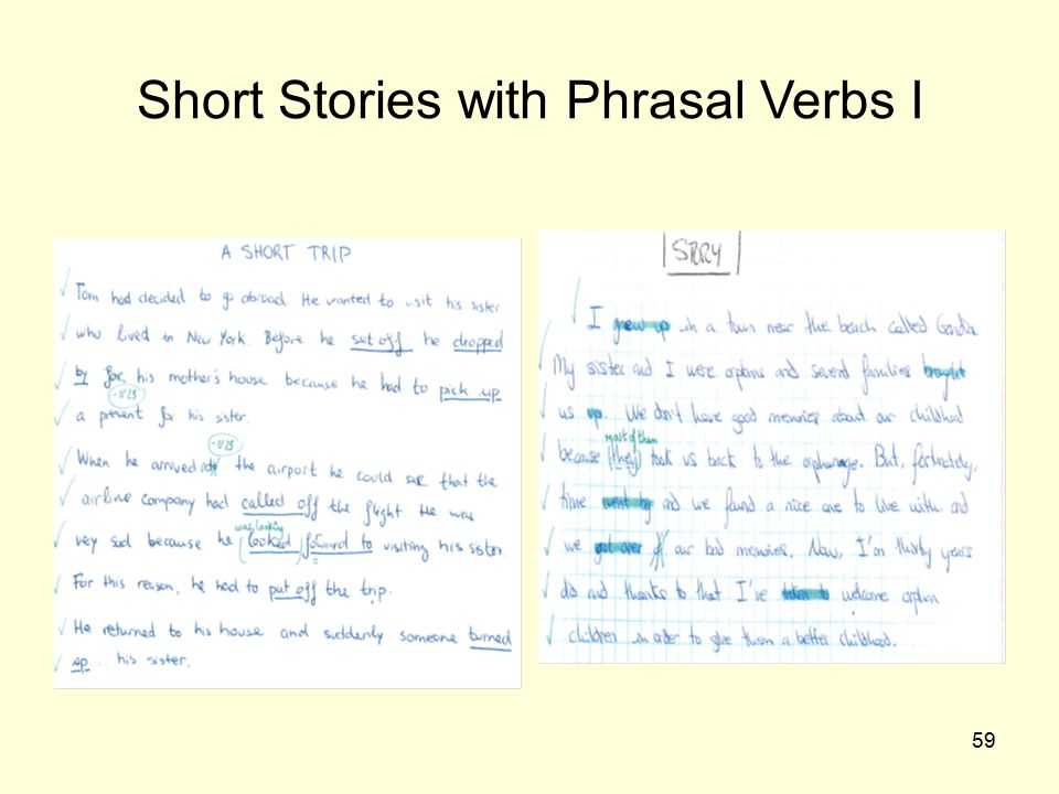 Short Stories with Phrasal Verbs I