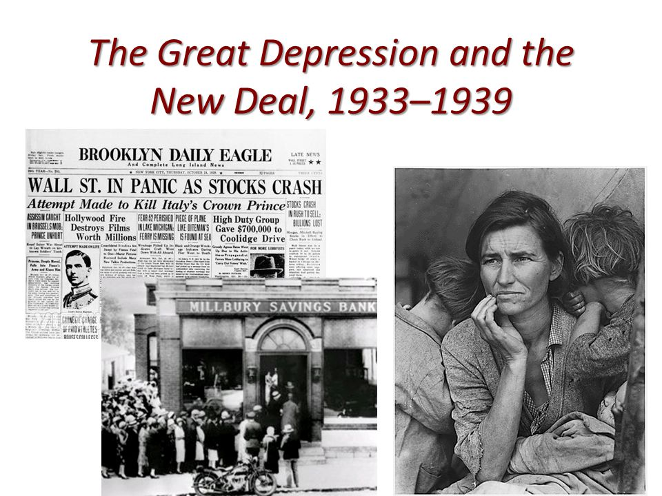 new deal and great depression Analyze the responses of franklin d roosevelt's administration to the problems of the great depressionhow effective were there responses how d.