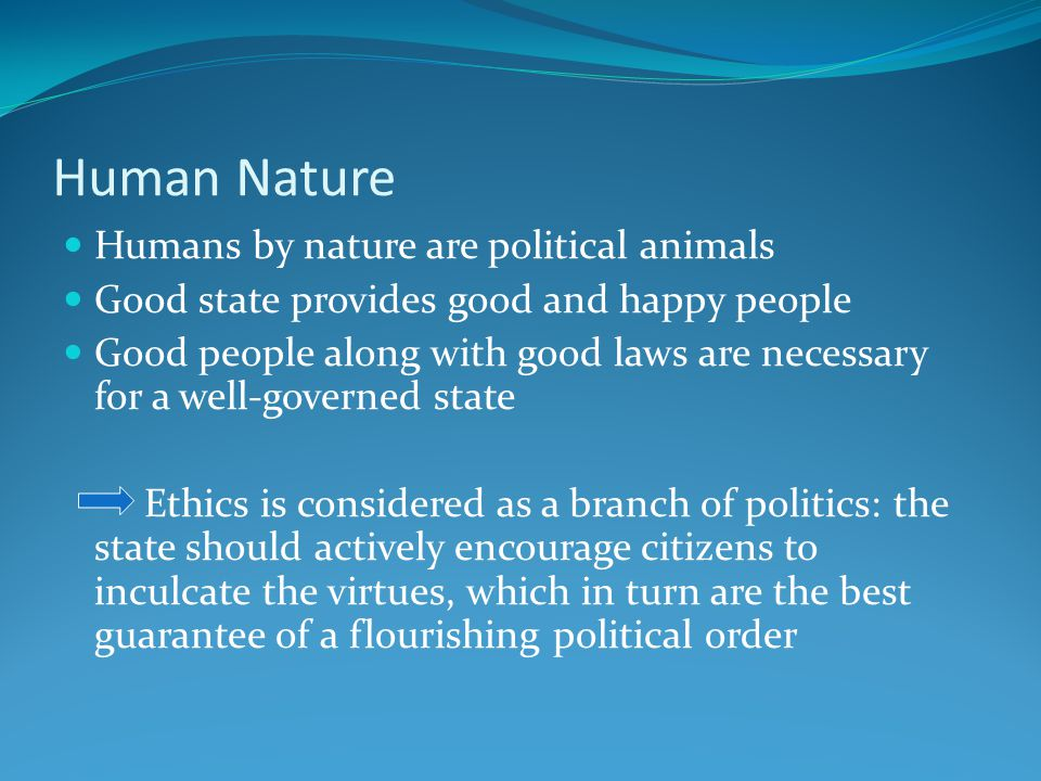In A State Of Nature All Humans Are Naturally Good