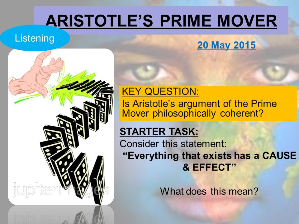 aristotle notes on four causes and prime mover In his book metaphysics aristotle also links the prime mover with god and concludes importance he places on the last of his four causes aristotle's prime mover.