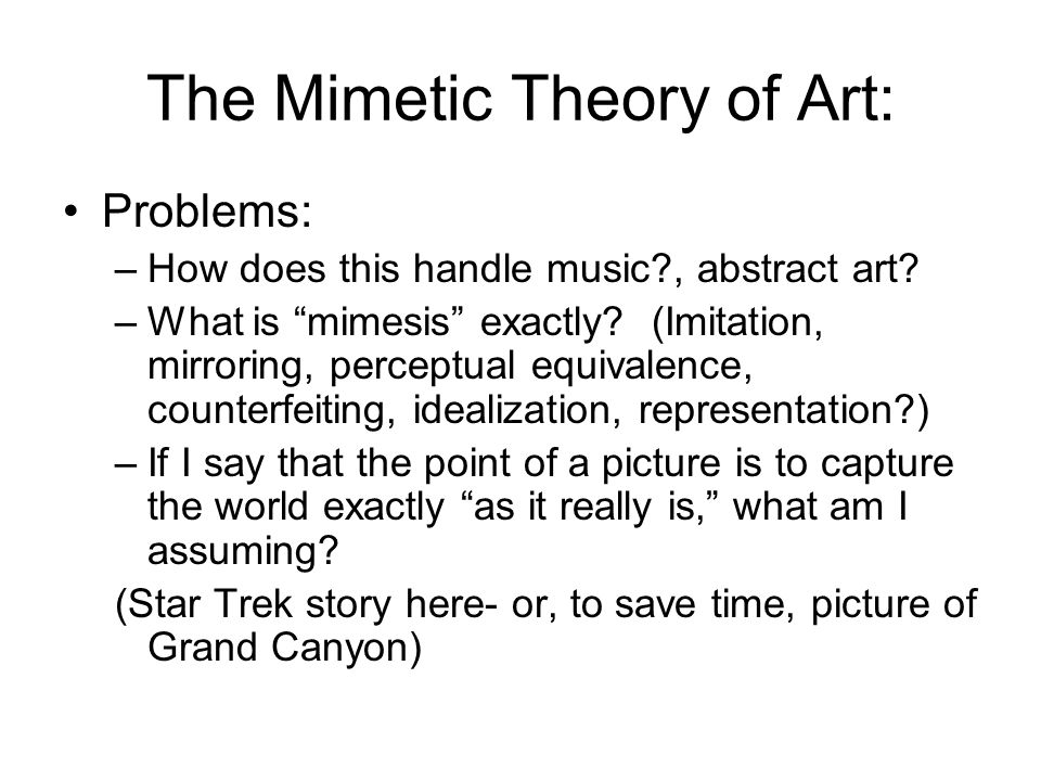 theory of mimesis (mimetic theory and the nonviolent god was delivered at the christianity 21 conference in denver as part of the conference's 7-21 talks participants have 21 slides that automatically advance every 20 seconds, which equals 7 minutes the talk describes why mimetic theory is essential to the future of christianity.