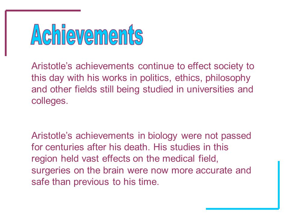 Aristotle's life and achievements Essay Sample