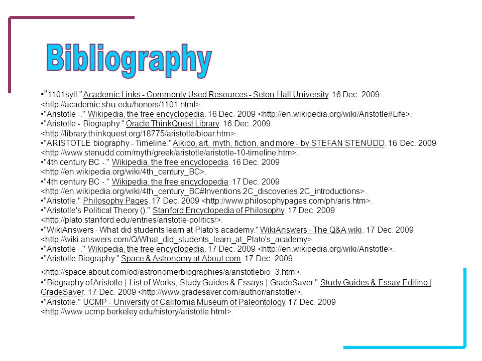 aristotle born bce died bce by courtney farrell ppt  15 bibliography 1101syll