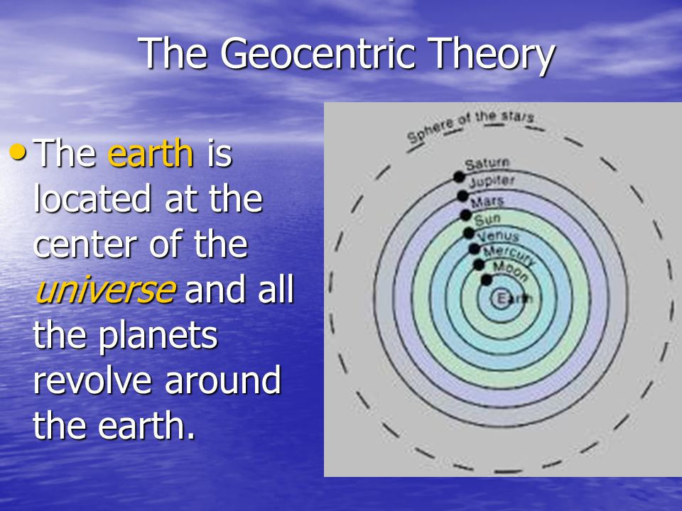 sun centered vs earth centered Galileo believed that the sun was not just the fixed center of the solar  that it  does move—it simply orbits the center of the galaxy rather than the earth  vs it  was as true authors that they consigned to writing whatever he.