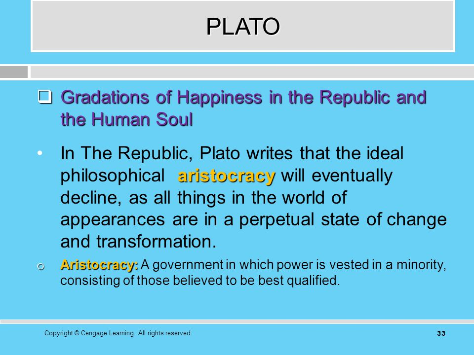 an analysis of platos concept of ultimate happiness Plato's republic, book ii  i suppose god can be instated as the ultimate dispenser of justice  plato's republic, book i.